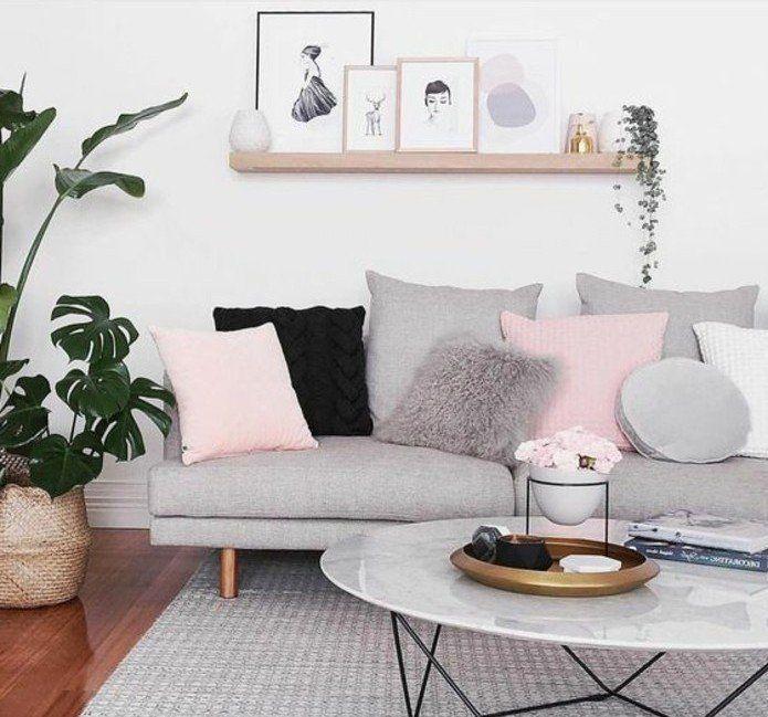 awesome Déco Salon - super idée déco salon gris et blanc, couleur ...