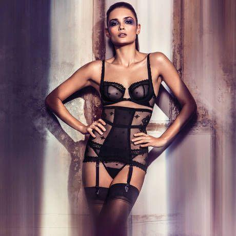 WACOAL Serretaille Portejarretelles Gainant Sensuality Noir En - Serre taille porte jarretelle