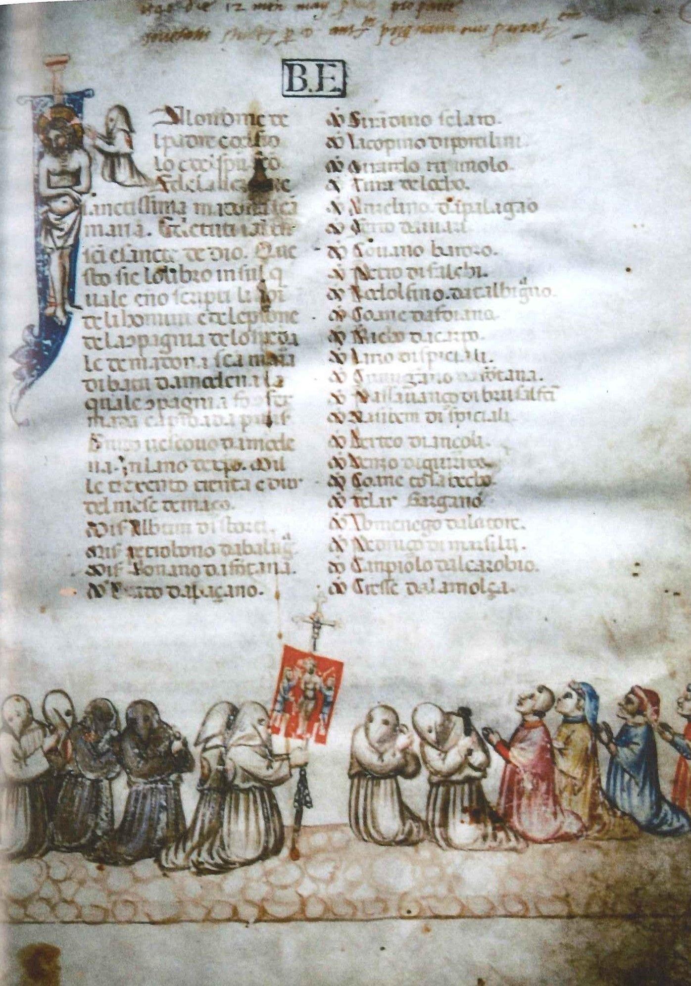 Hooded orants Modena Biblioteca Estense congregatione de la