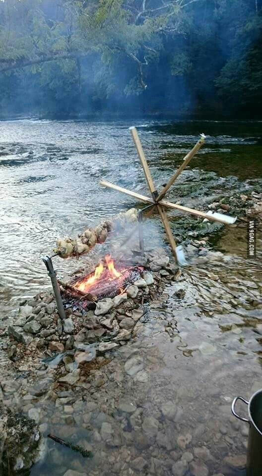 Photo of When an engineer goes camping