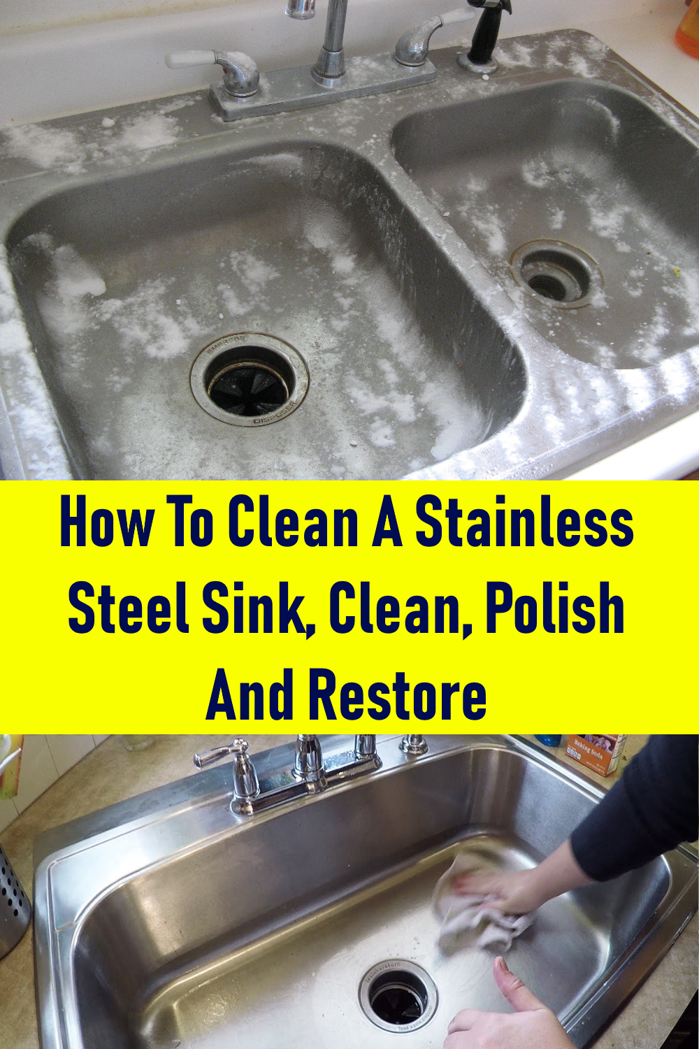How To Clean A Stainless Steel Sink Clean Polish And Restore