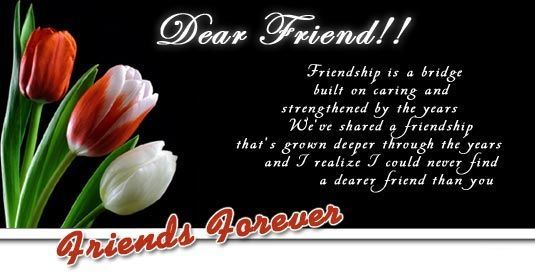 Dear Friend... friendship quote friend friendship quote friend quote graphic ...