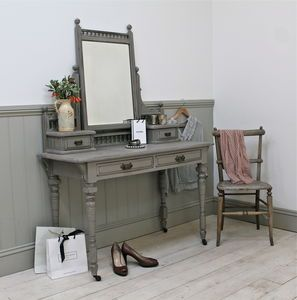 Distressed Victorian Mahogany Dressing Table