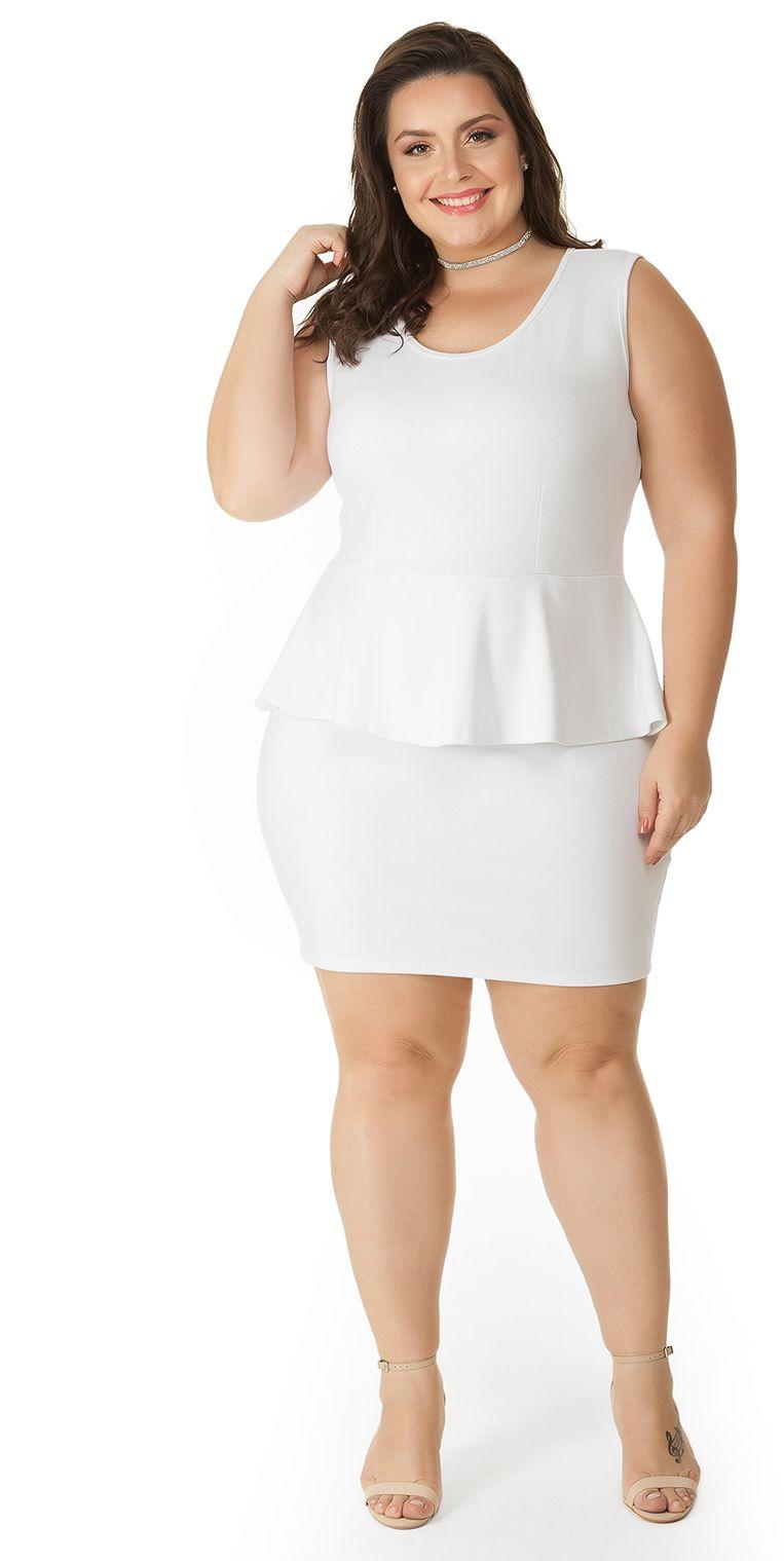Vestido justinho branco 68051bfc4ef