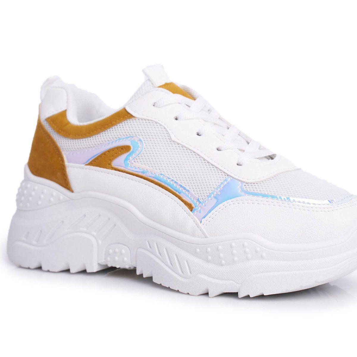 Bugo Sportowe Damskie Buty Zolto Biale Memory Zolte Sneakers Nike Sneakers Brooks Sneaker