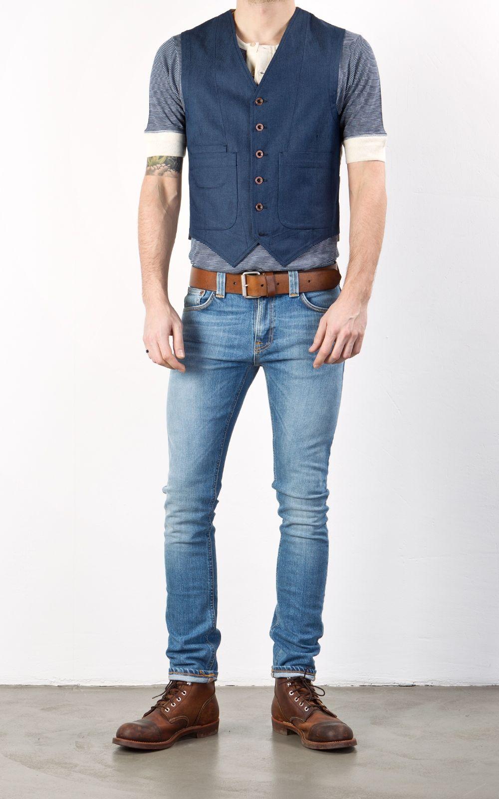 1ff9f1bbefe Nudie Jeans Tube Tom Org. Blue Lightning   FIT JEANS   Nudie jeans ...