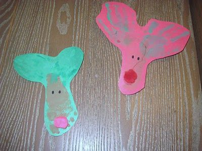 hand and footprint reindeer