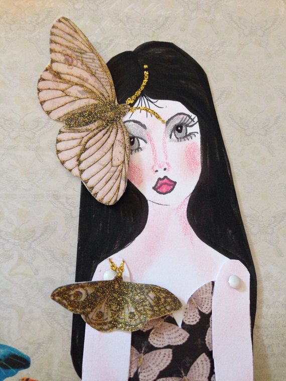 Lady Butterfly Paper Doll on Etsy, $8.00