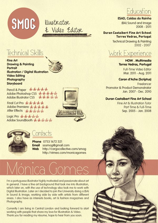 50 awesome resume designs that will bag the job 50th bag and
