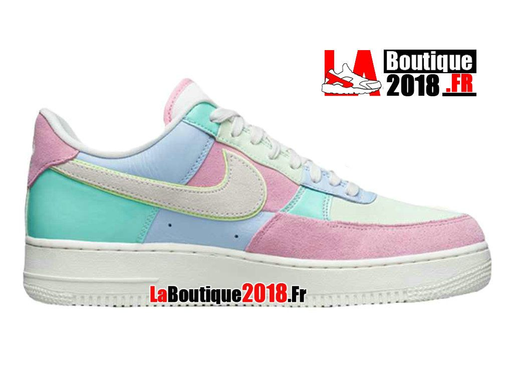 new product a912a 21fec Nike Wmns Air Force 1 Easter 18 RoseBleuBlanc AH8462-400 Chaussure