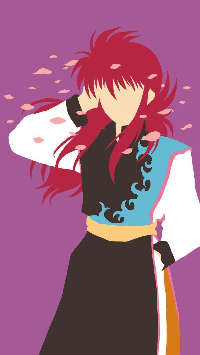 Kurama Minimalist By Amyenah Yuyu Hakusho Yuyu Anime