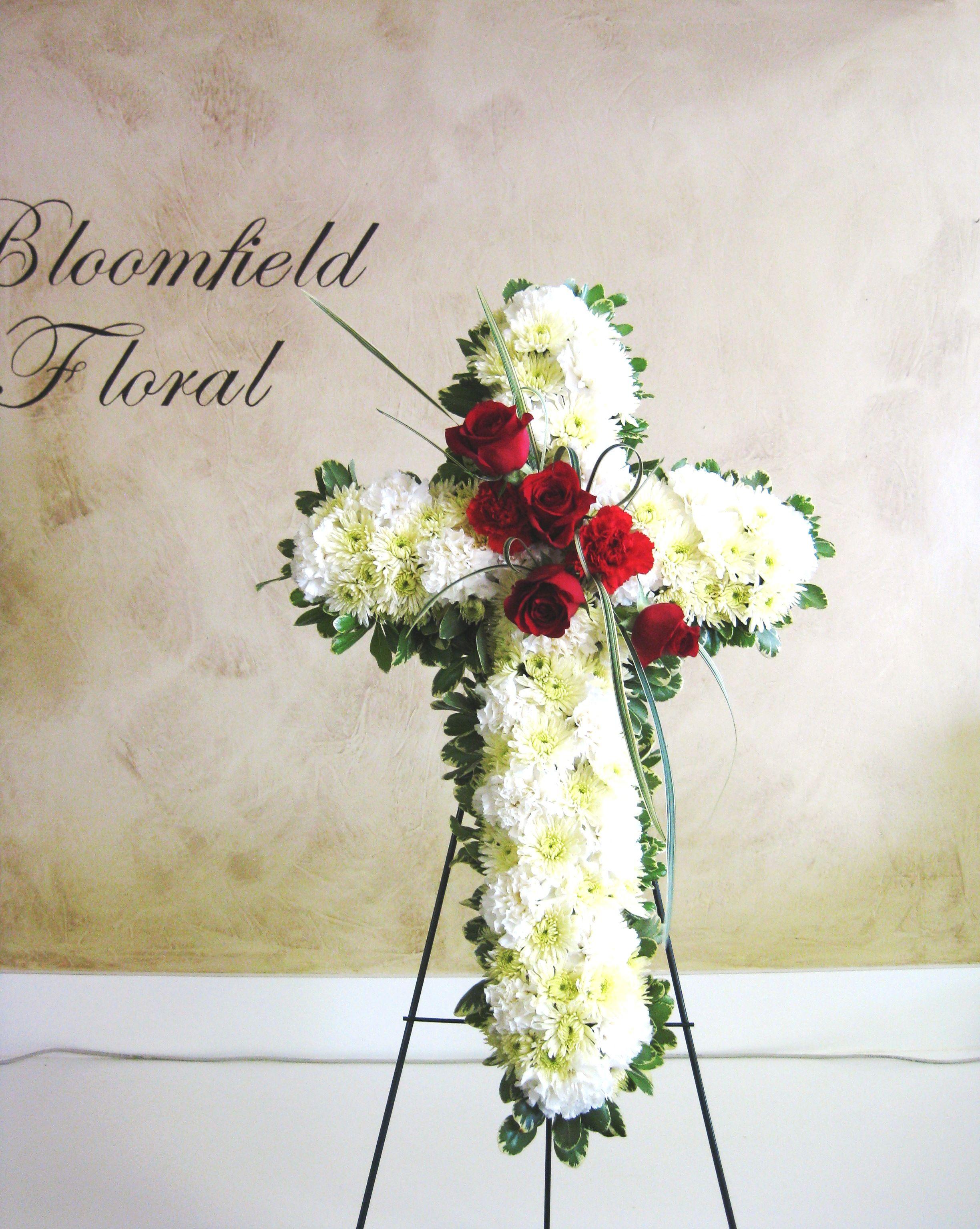 Funeral flower cross cross funeralflowers funeral