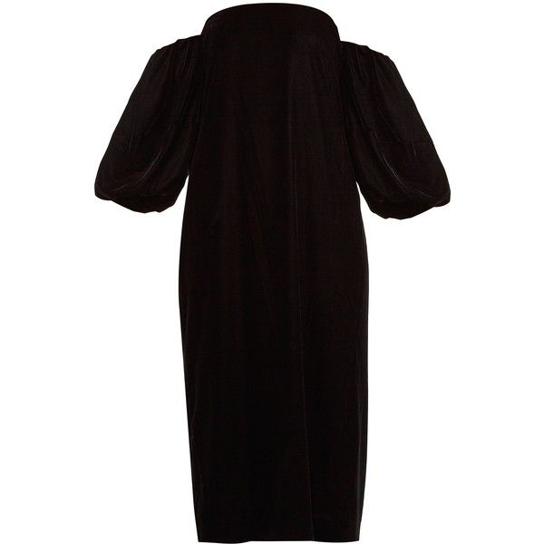 Vanna Off-the-shoulder Velvet Midi Dress - Black Elizabeth & James c0U4ys