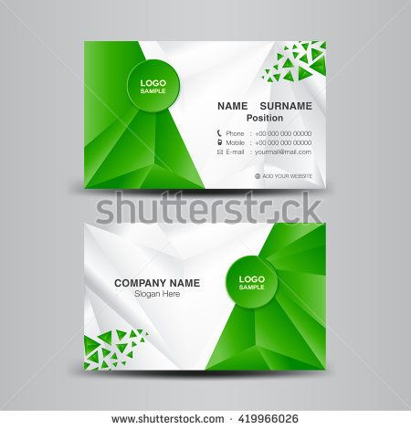 Business card template vector illustrationgreen polygon background business card template vector illustrationgreen polygon backgroundflyer design name card template fbccfo Choice Image