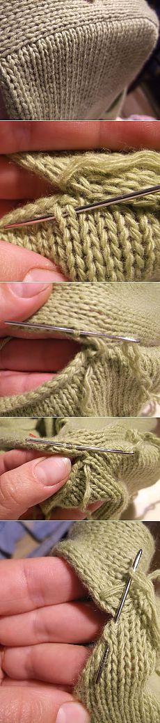 Как красиво вшить рукав в вязанное спицами изделие