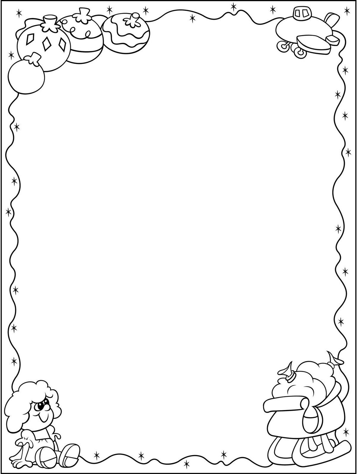 wide frame coloring pages christmas - photo#10