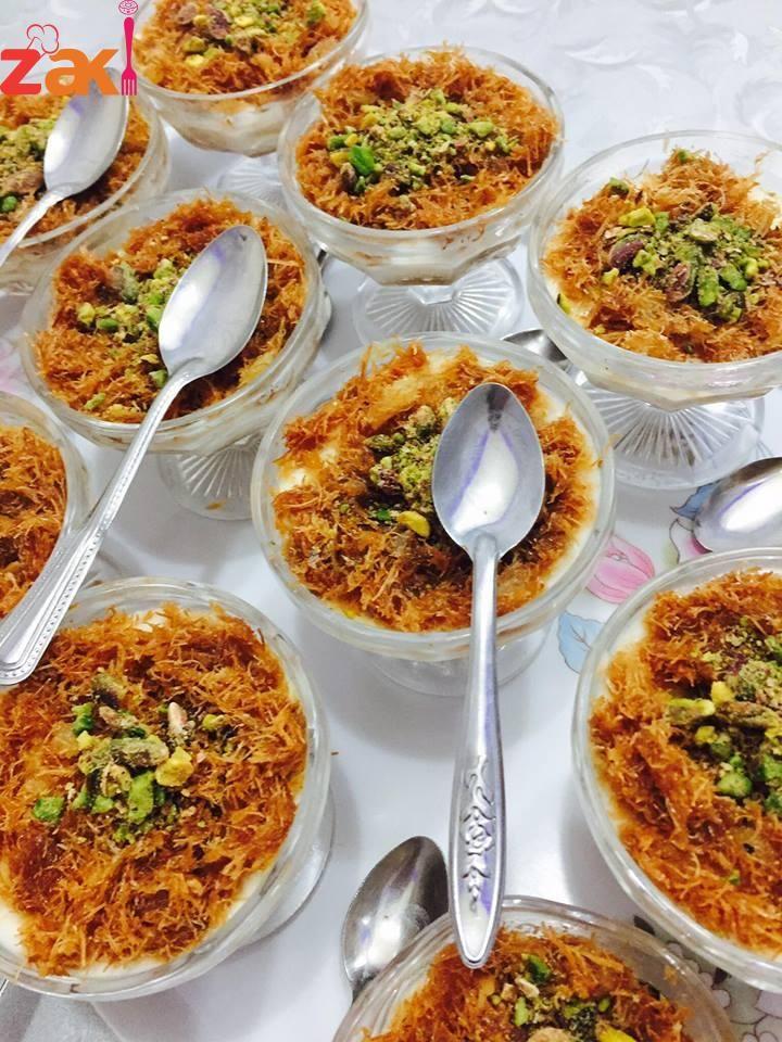حلى كاسات الكنافة الباردة زاكي Ramadan Sweets Middle East Recipes Ramadan Desserts