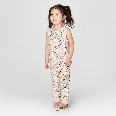 66e0252b9 Toddler Girls' Romper - Cat & Jack™ Peach 4T | I Scream You Scream ...