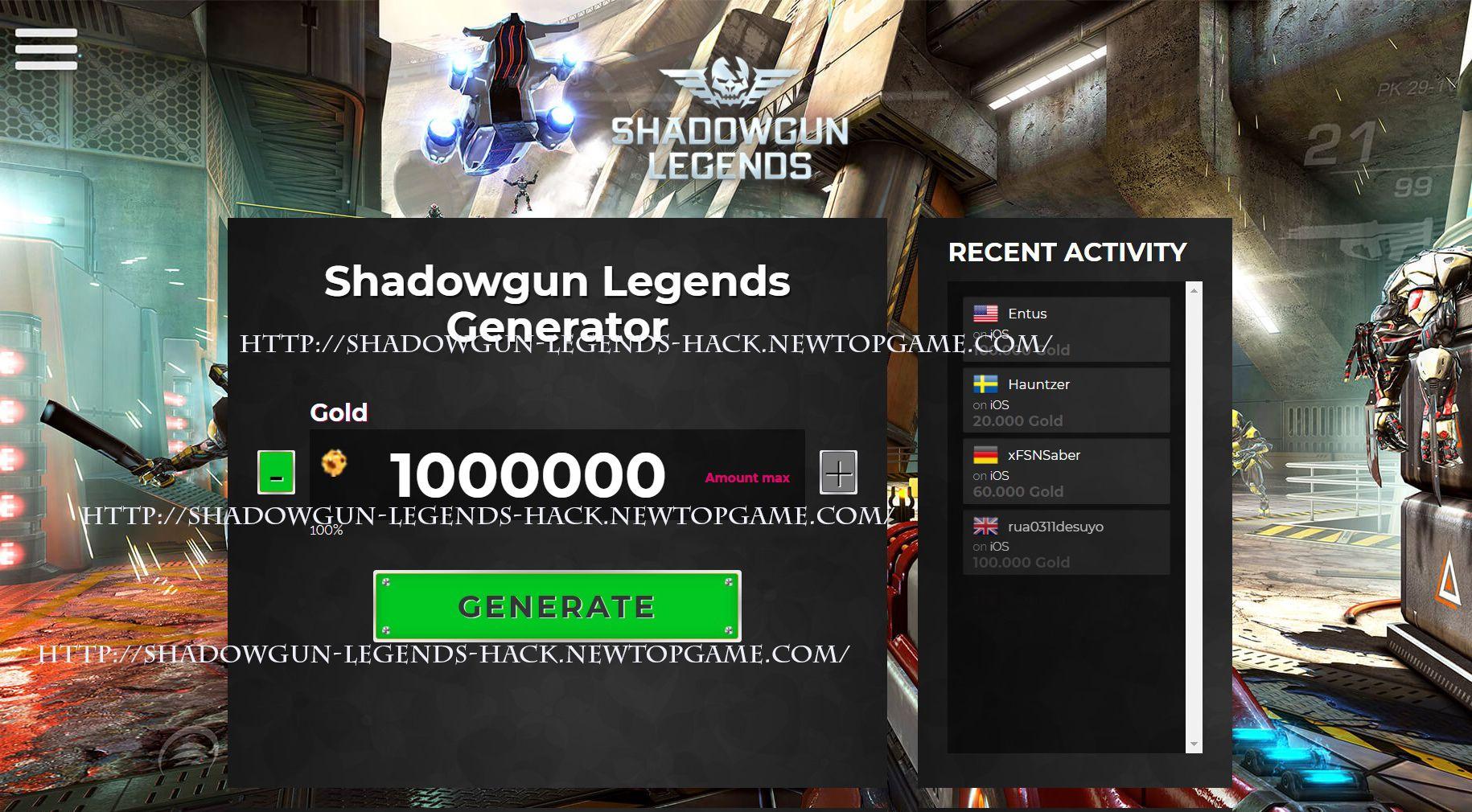 shadowgun legends mod apk unlimited gold