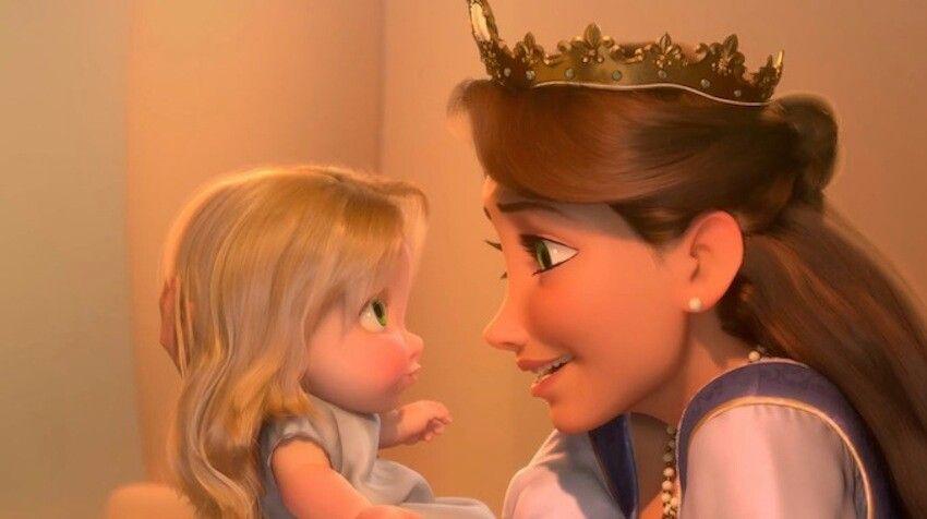 Tangled Baby Rapunzel And Mom Disney Mom Disney Rapunzel Disney Tangled