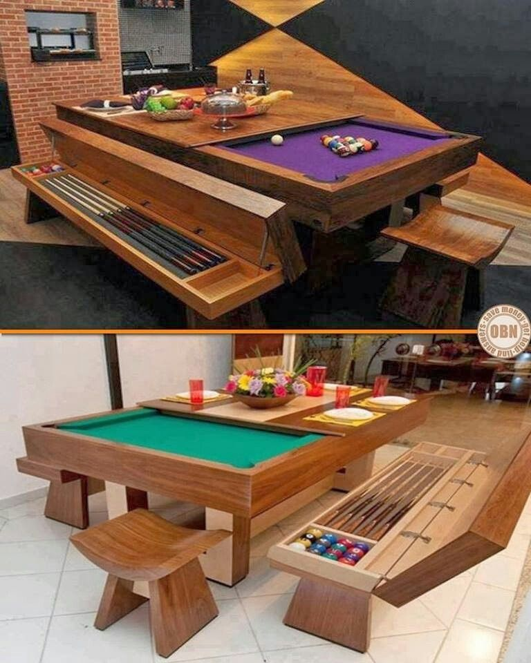 Dining area/pool table | Dreaming BIG | Pinterest | Muebles, Mesas ...