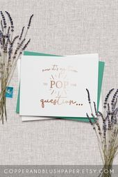 Now its my turn to pop the question card  wedding party proposals  foil bridesmaid proposal card  be my maid of honor  WILLOW  Weddings