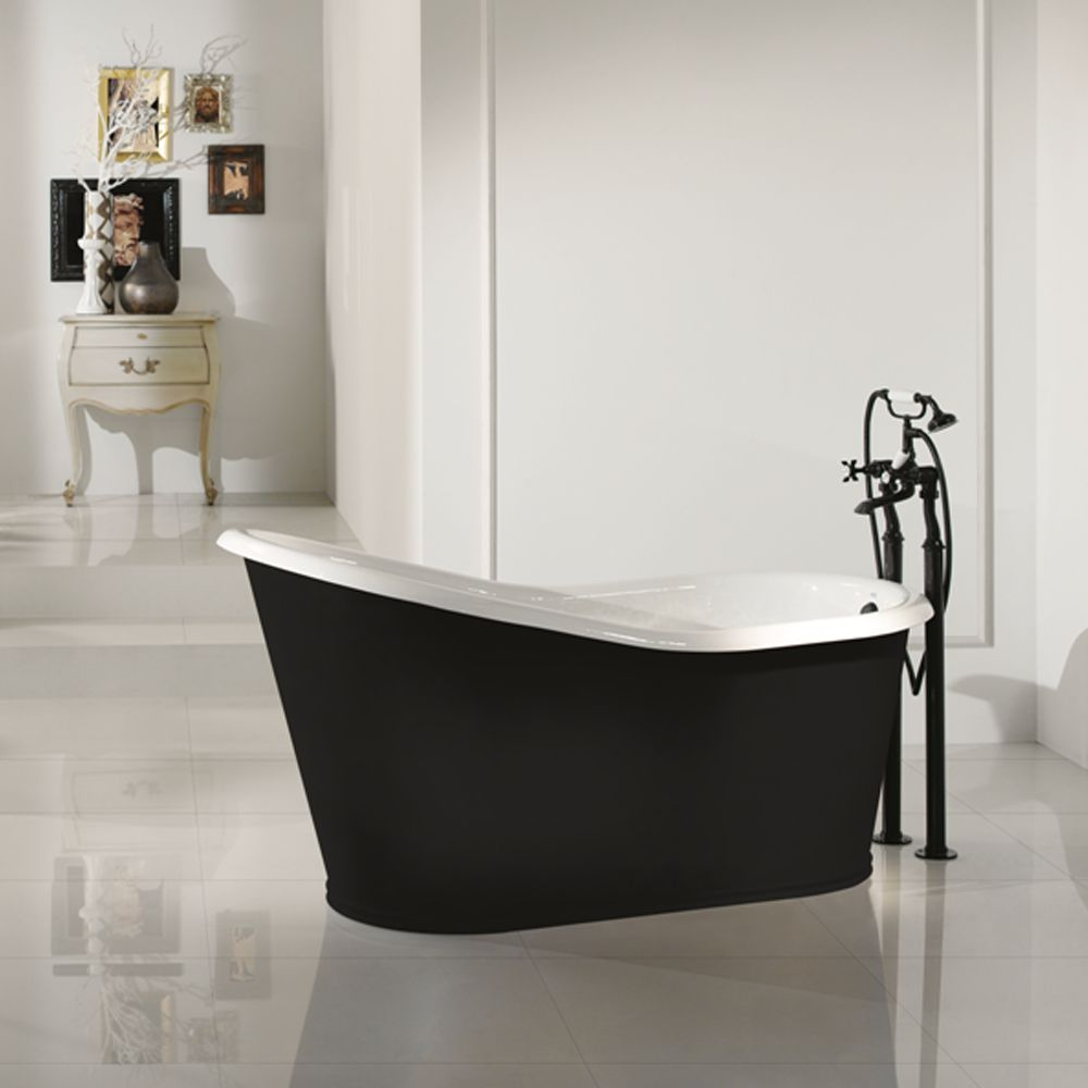 Vasca da bagno freestanding di design in ghisa verniciata Old. By ...