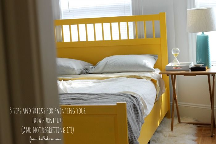 I Could Paint The Brown Bedframe Maybe Not Bright Yellow But