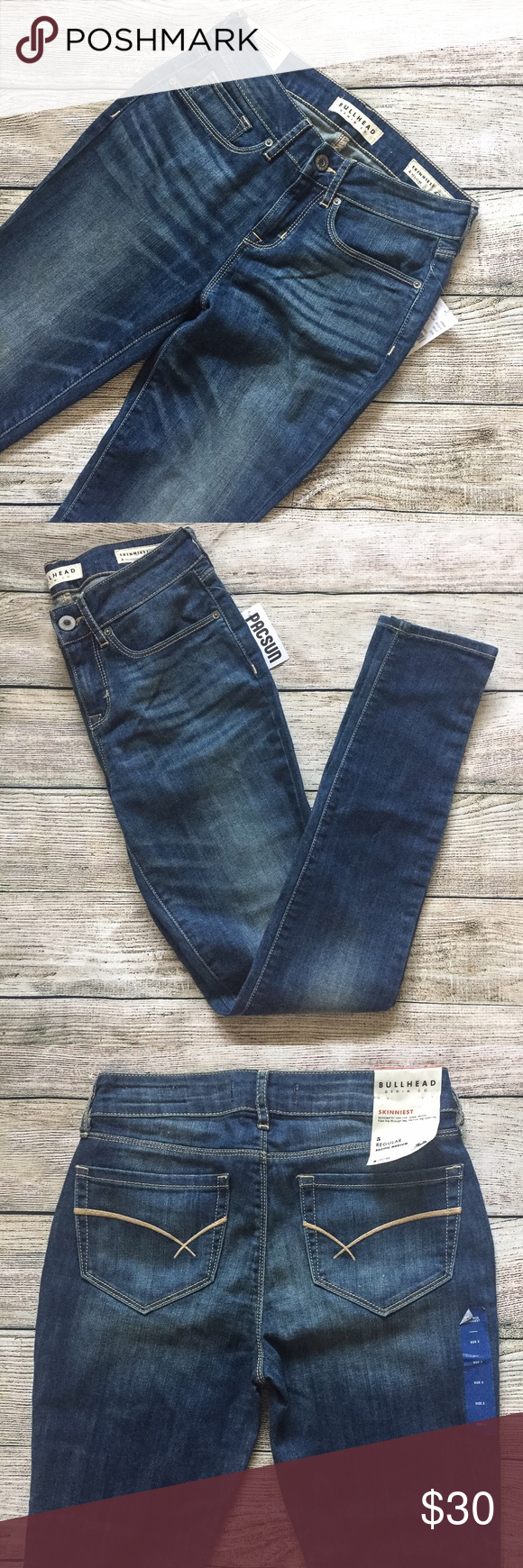 """{Bullhead} •NWT• Skinniest Jeans • Super skinny fit, slim from hip to hem • Fabric is stretchy  • New with tags  • 13.5"""" waist laying flat • 30"""" inseam • 9"""" front rise   No trades   