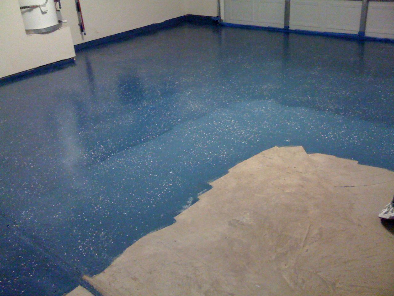 painting concrete floors glitter | paul wall | Pinterest | Garage ...