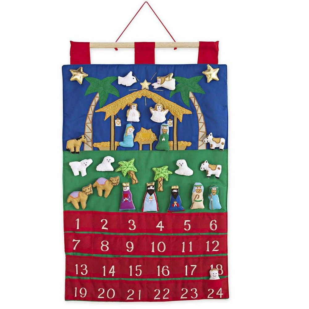 Magic Cabin Fabric Nativity Advent Calendar for Kids in