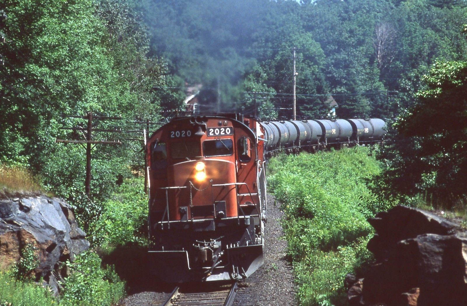 CN Canadian National C630M 2020+1 w/Train Parry Sound