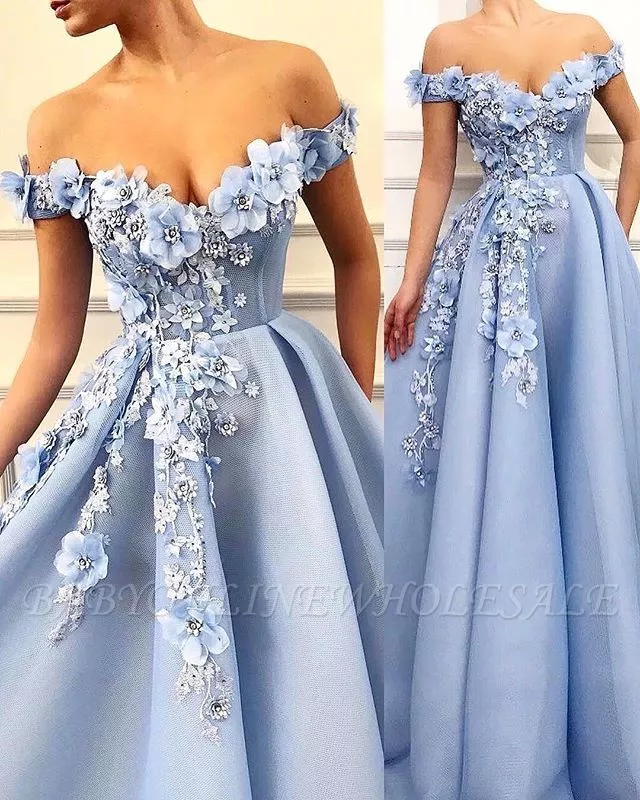 Blaues Abendkleid | Elegante Abendkleider Lang V Ausschnitt | Babyonlinewholesale #quinceaneraparty