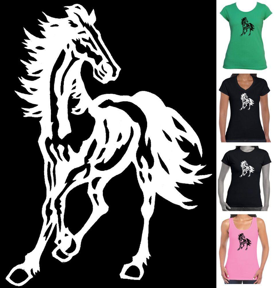 Horse Riding Heart Beat Pulse WOMENS T-SHIRT Tee Equestrian Funny Gift birthday