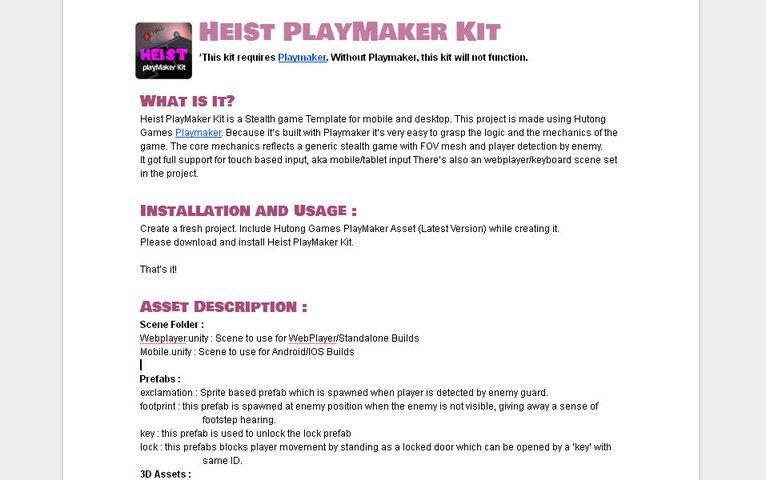 Heist Playmaker Kit Templates