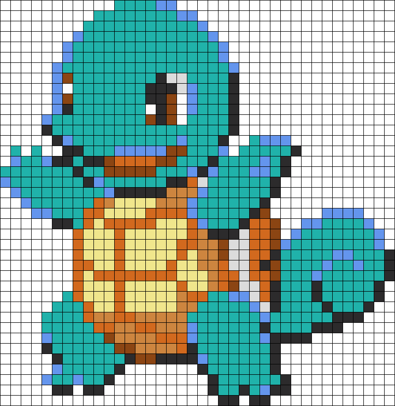 Squirtle Perler Bead Pattern | Bead Sprites | Characters Fuse Bead ...
