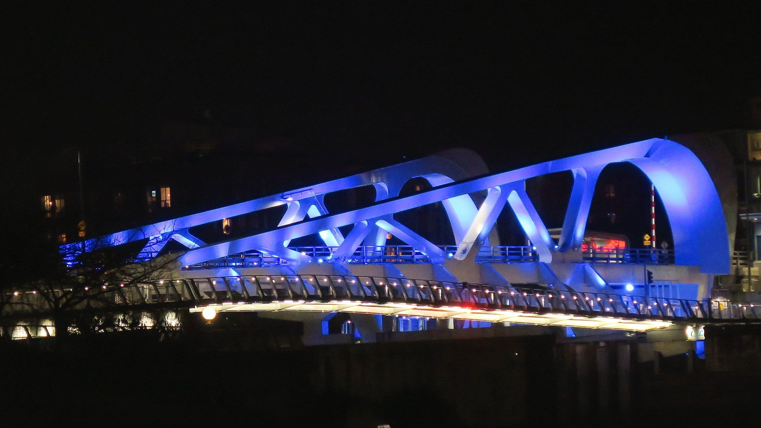 Image result for Johnson st bridge at night