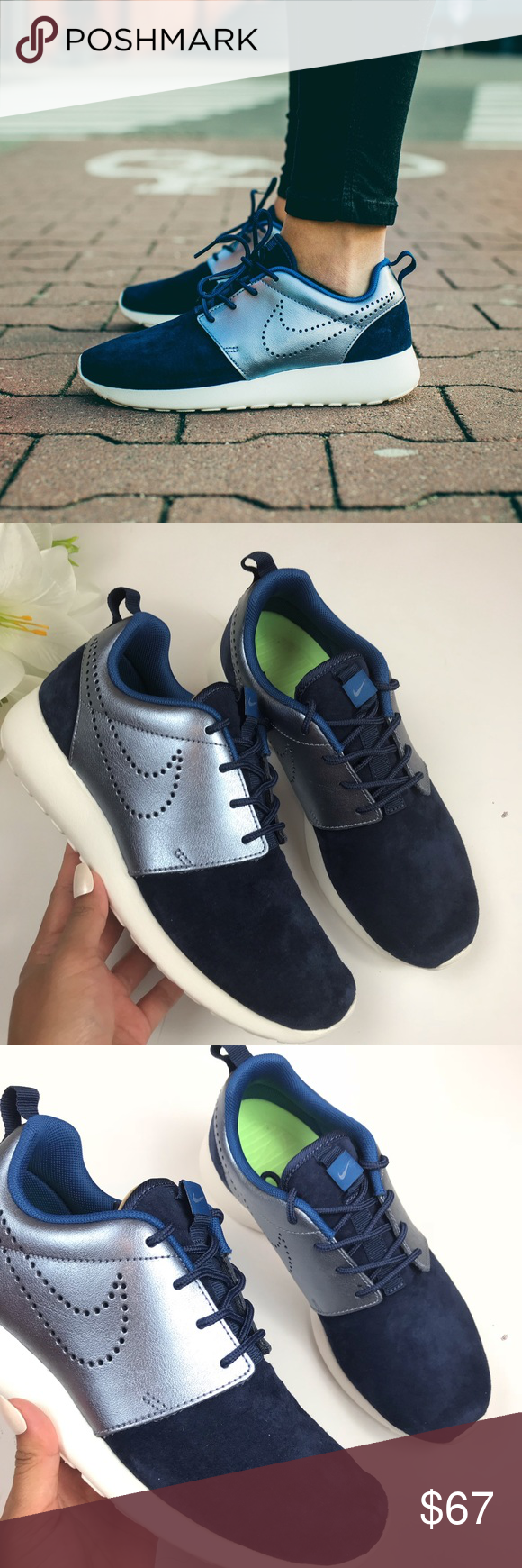 huge discount 5b063 ab19e Brand New Nike Roshe One Premium Suede Combine sleek style and a  high-quality fit and feel when you step into the Nike® Women s Roshe One  Premium Just Do It ...
