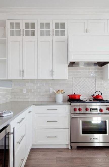 15+ trendy kitchen cabinets shaker drawer pulls #whiteshakercabinets