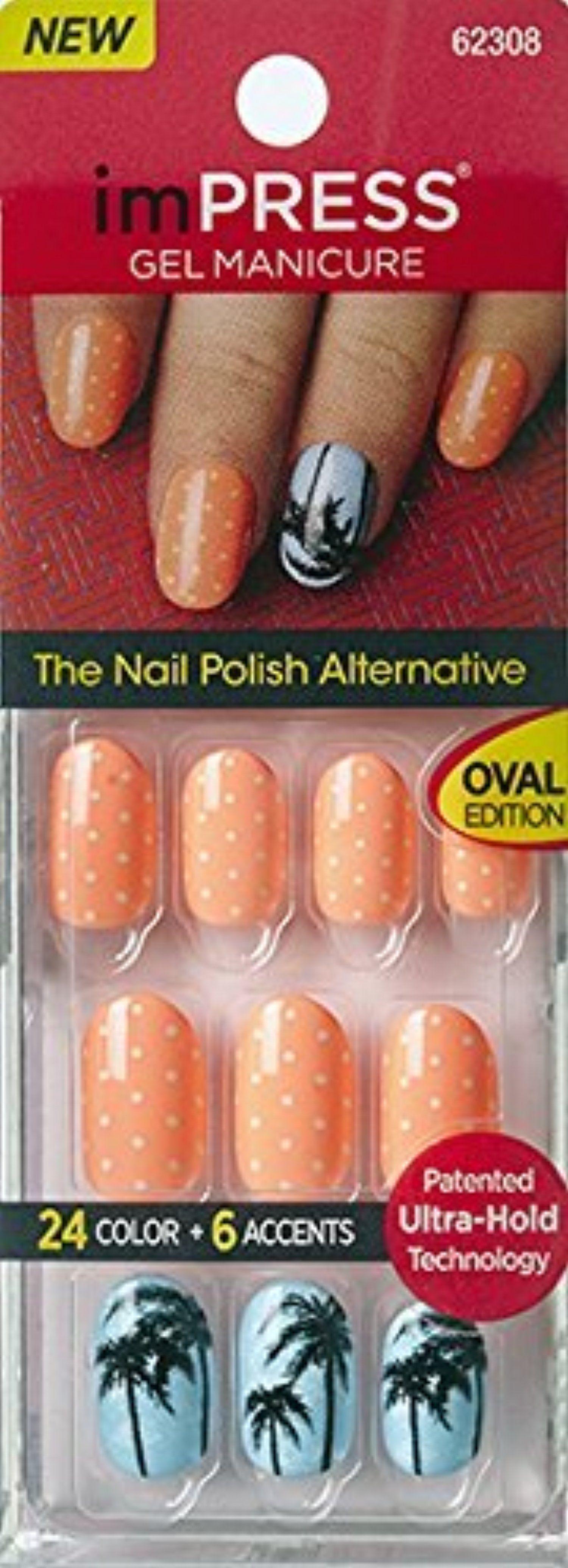 Impress press on manicure nails my style pinterest - New Kiss Impress Oval Nails Next Wave By Broadway Press On Manicure Nails By Broadway
