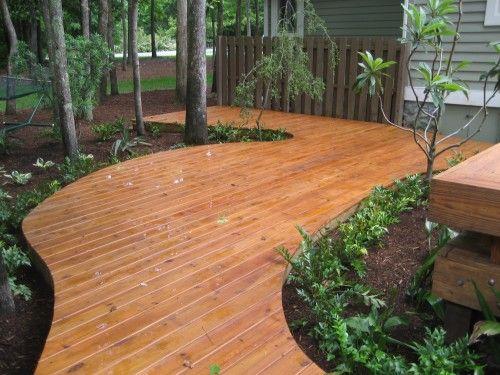 Love The Lines Of This Deck Around Trees Decks Backyard Backyard