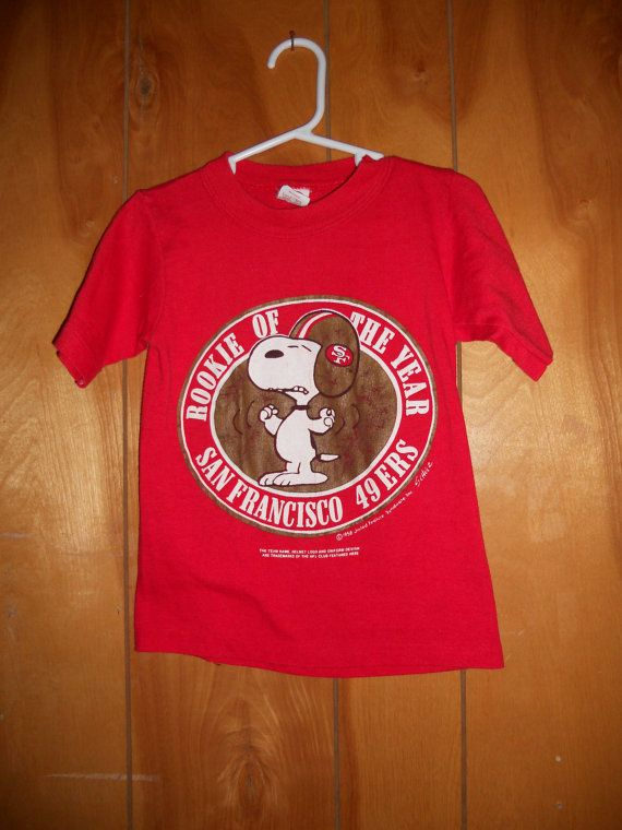 bd87856dc Rare vintage Snoopy SAN FRANCISCO 49ers tshirt by threadedheart ...