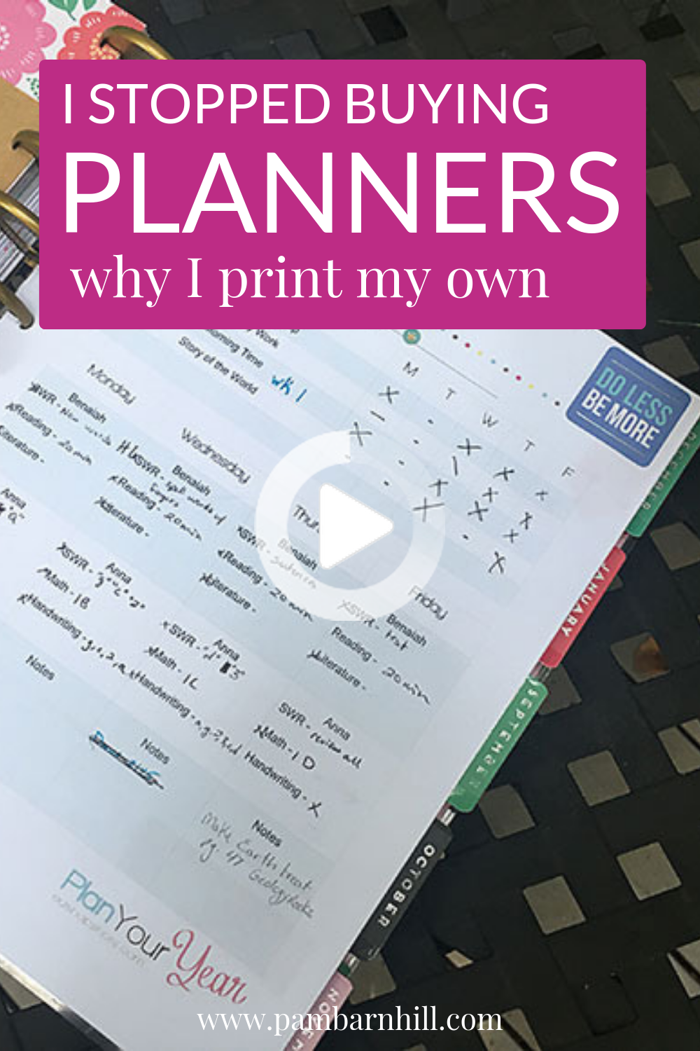 Why You Need to Stop Buying Homeschool Planners | Homeschool planner, Homeschool daily planner, Lesson planner printable