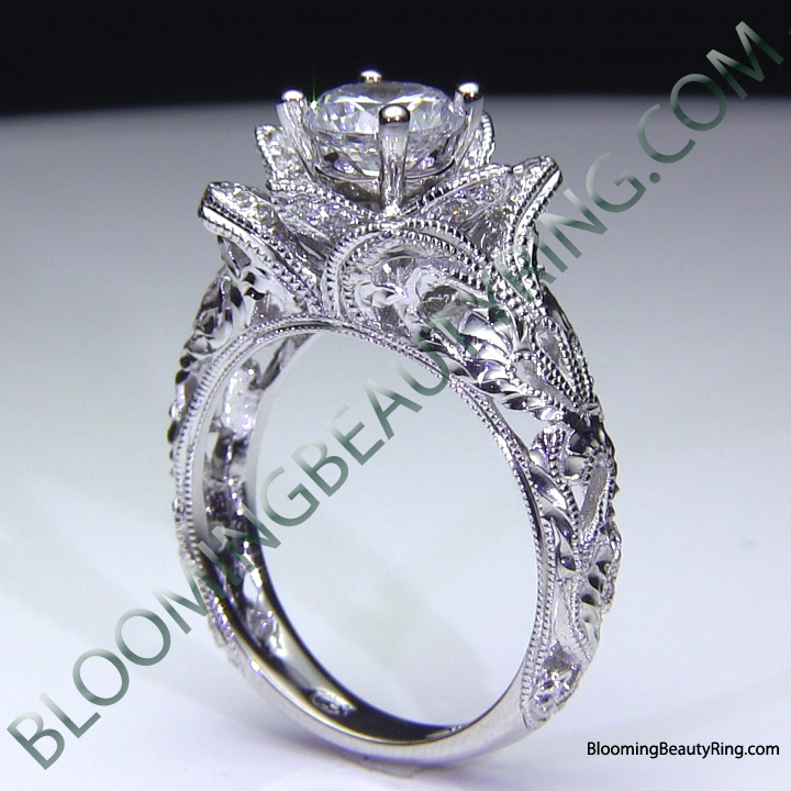 Rose Design Rings View More Information About This Embossed Blossoming