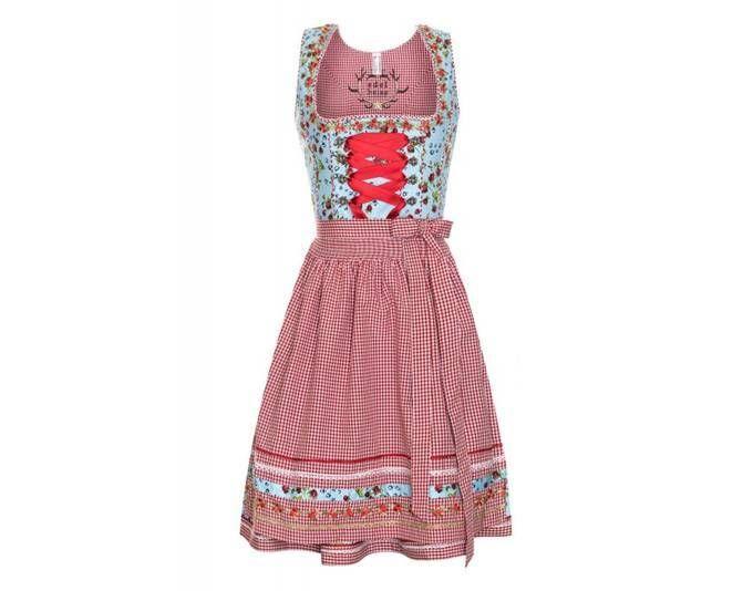 Kleid orange pink rot