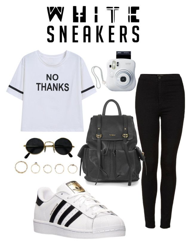 """""""Street style"""" by elly397 ❤ liked on Polyvore featuring adidas, Topshop and Boohoo"""