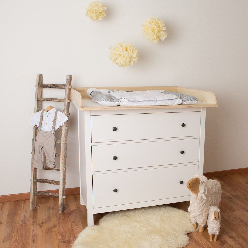 Xxl Natural Wood Changer Changing Table Top For Ikea Hemnes