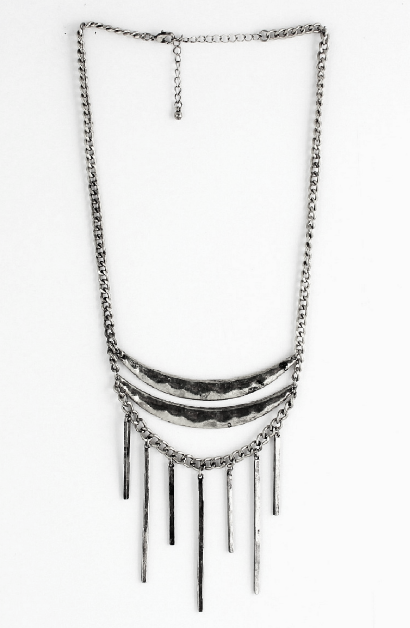 Curved Hammered Necklace