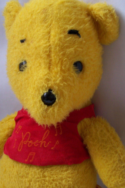 Vintage Musical Plush Winnie The Pooh Bear Musical Plush Pooh Bear Winnie The Pooh