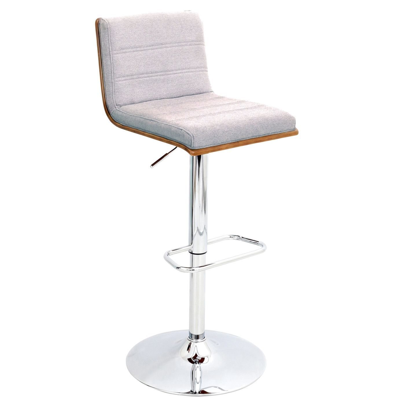 Astounding Bromi Design Lexi Adjustable Height Barstool White Walnut Caraccident5 Cool Chair Designs And Ideas Caraccident5Info